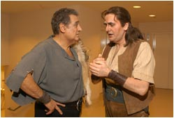 John Treleaven with Placido Domingo- 'Ring' performances in Chicago.