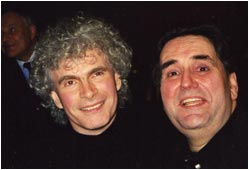 John Treleaven with Sir Simon Rattle in Amsterdam.